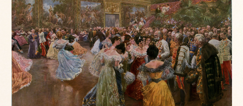 The emperor Franz Josef at the ball in the Redoutensaale of the Hofburg in Vienna by Wilhelm Gause, 1853-1916